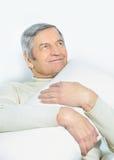 Het huisleven van een bejaarde persoon royalty-vrije stock afbeelding