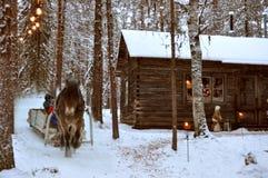 Het huispaard van Kerstmis Royalty-vrije Stock Fotografie
