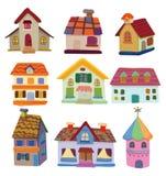 Het huispictogram van het beeldverhaal Stock Afbeeldingen
