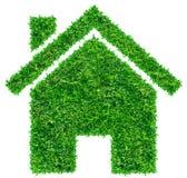 Het huispictogram van het gras Royalty-vrije Stock Foto