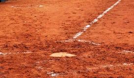 Het huisplaat van het honkbal Stock Afbeelding