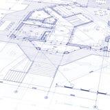 Het huisplan van de blauwdruk Royalty-vrije Stock Afbeelding