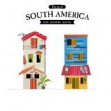 Het huisstijl van Zuid-Amerika - Stock Fotografie