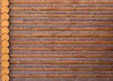 Het huisstructuur van het logboek van de houten buitenkant van het de bouwhuis Royalty-vrije Stock Foto's