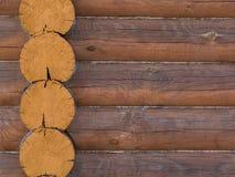 Het huisstructuur van het logboek van de houten buitenkant van het de bouwhuis Stock Afbeelding