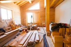 Het huisverbetering materialen stock foto