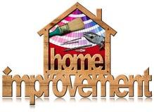 Het huisverbetering Symbool met het Werkhulpmiddelen Royalty-vrije Stock Foto's