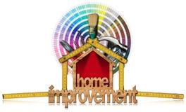 Het huisverbetering Symbool met het Werkhulpmiddelen Stock Foto