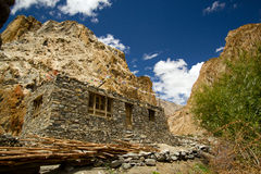 Het huisverblijf van de berg in Leh, Noord-India royalty-vrije stock fotografie