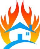 Het huisverzekering van de brandschade Stock Foto's