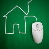 Het huisvesten - online Stock Afbeelding
