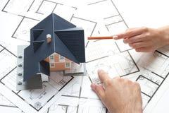 Het huisvesten planning stock afbeeldingen