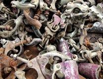 Het huisvuilstukken van het metaal Stock Foto's