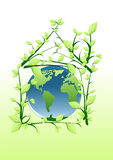 Het huiswereld van de ecologie stock illustratie