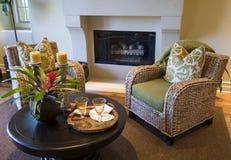 Het huiswoonkamer van de luxe. Stock Foto's