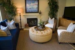 Het huiswoonkamer van de luxe. royalty-vrije stock afbeelding