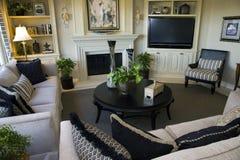 Het huiswoonkamer van de luxe Stock Fotografie