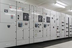 Het hulpkantoor van de elektrische energiedistributie Stock Foto