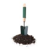 Het Hulpmiddel dat van de Troffel van de tuin zich rechtop bevindt Stock Foto