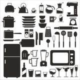 Het hulpmiddel van de keuken Reeks van het keuken de vectorpictogram stock illustratie