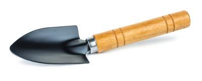 Het hulpmiddel van de schoptuin of lepelspade op witte achtergrond met het knippen van weg wordt geïsoleerd die stock afbeelding