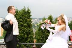 Het humeur van het huwelijk Stock Foto