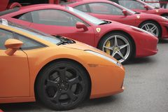 Het huren van auto's in Montmelo royalty-vrije stock foto