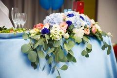 Het huwelijk bloeit bruids boeket Romantisch bloeiend decor, decorat royalty-vrije stock fotografie