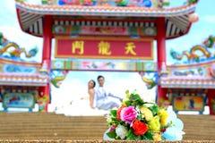 Het huwelijk huwt paren stock foto