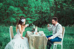 Het huwelijk van de Bohostijl Royalty-vrije Stock Afbeelding