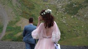 Het huwelijk van de Bohostijl stock footage