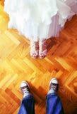 Het huwelijk van de superster stock fotografie