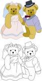 Het huwelijk van de teddybeer Royalty-vrije Stock Fotografie