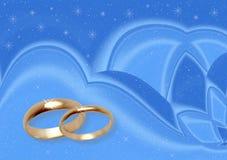 Het huwelijk van de winter. vector illustratie