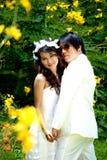 Het huwelijk van het portret Stock Foto's