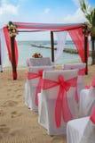 Het huwelijk van het strand. stock fotografie