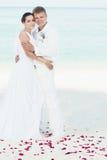 Het huwelijk van het strand Stock Foto's