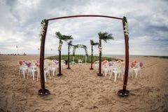Het huwelijk van het strand Royalty-vrije Stock Afbeeldingen