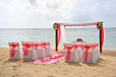Het huwelijk van het strand. Royalty-vrije Stock Afbeelding