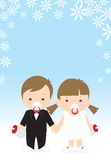 Het huwelijk van jonge geitjes royalty-vrije illustratie