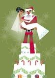 Het huwelijk van Kerstmis Stock Afbeeldingen