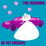 Het huwelijk van mijn dromen royalty-vrije illustratie