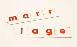 Het huwelijk verdeelde of scheiding. Stock Afbeeldingen
