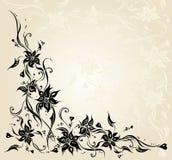 Het huwelijks van de Ecru uitstekend bloemenuitnodiging ontwerp als achtergrond Stock Afbeeldingen