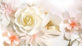 Het huwelijksachtergrond van de rozenbloem Stock Foto's