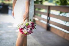 Het huwelijksboeket van de bruid Stock Fotografie