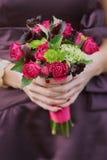 Het huwelijksboeket van het bruidsmeisje Royalty-vrije Stock Fotografie