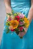 Het huwelijksboeket van het bruidsmeisje Stock Foto's