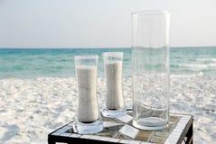 Het huwelijksceremonie van het strand Stock Foto's