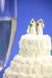 Het huwelijksconcept van de homosexueel of van het zelfde-geslacht. Stock Afbeeldingen